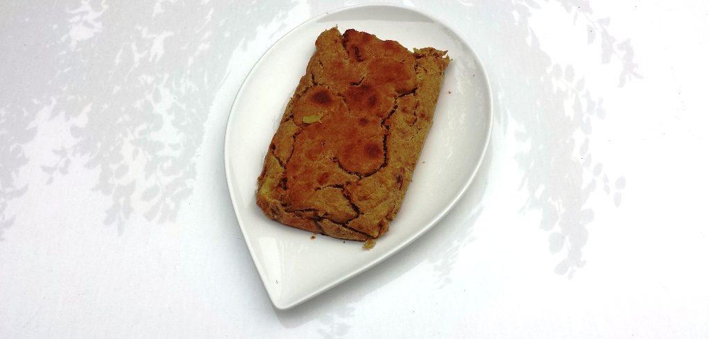 Vegan bananen-appel cake recept zonder olie.