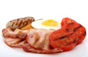 Spek en eieren. Koolhydraatarm
